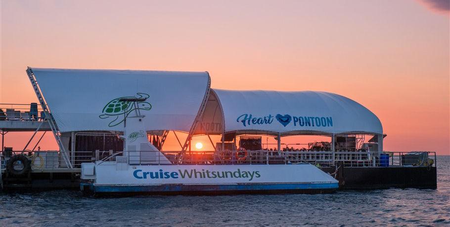 Sunset at the Cruise Whitsundays Pontoon