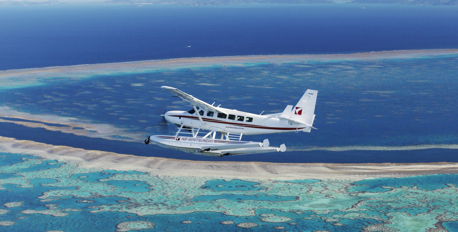Visit the Great Barrier Reef with Air Whitsundays Seaplanes