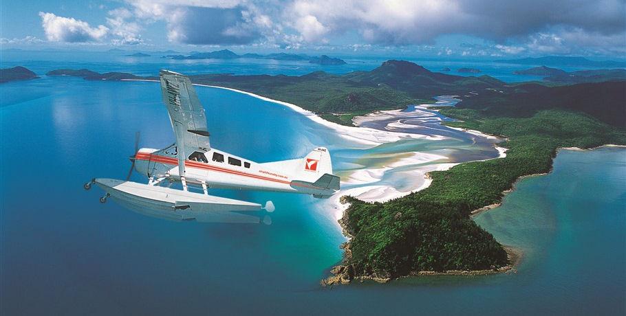Seaplane Scenic Flight of Whitehaven Beach at Whitsunday Island