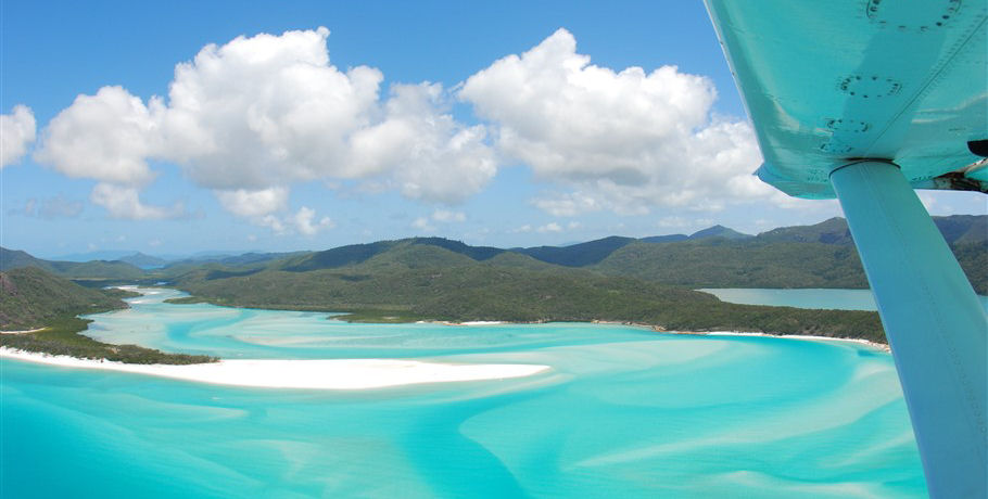 Whitsundays Hill Inlet Sands view by Seaplane Scenic Flight