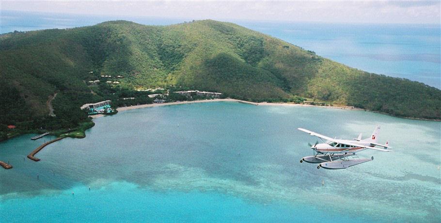 Seaplane Flying Over Hayman Island