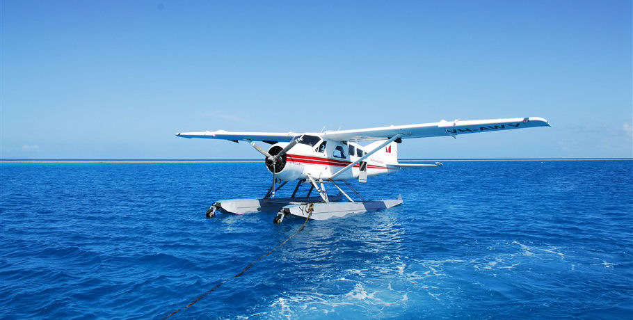 Seaplane Landing at the Great Barrier Reef