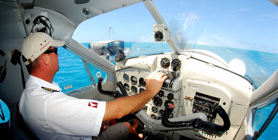 Photo of the Seaplane Pilot in the Whitsundays