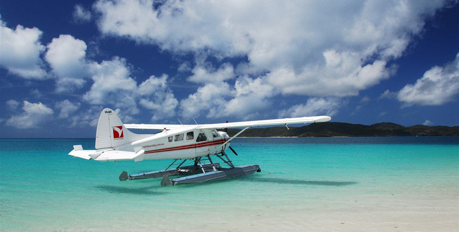 Seaplane at Whitsunday Island