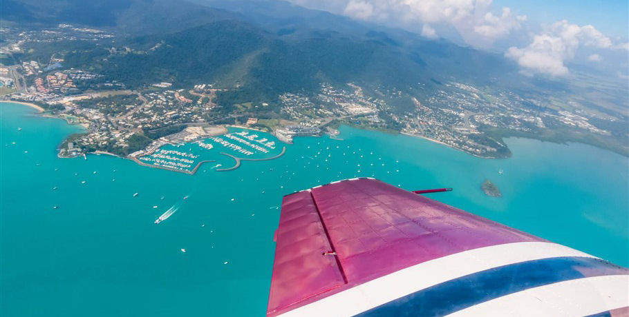 Aerobatic Flight over Airlie Beach