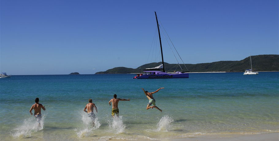 Fun at Whitehaven Beach