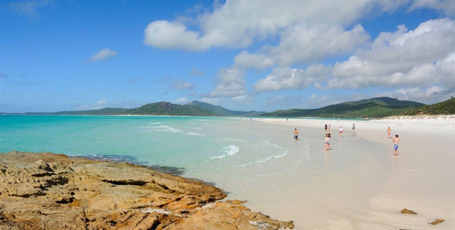 People at the Beach in the Whitsundays