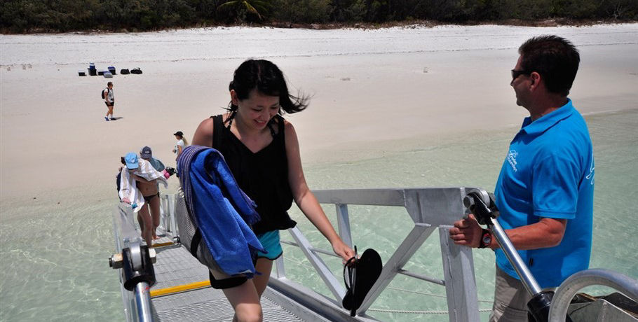 Ramp for Easy Access on and off Whitehaven Beach