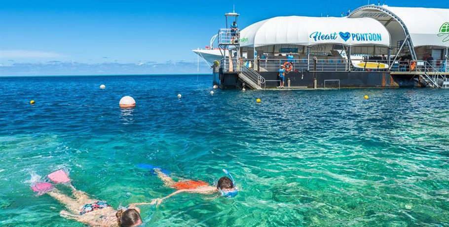 Snorkelling at the Great Barrier Reef Pontoon