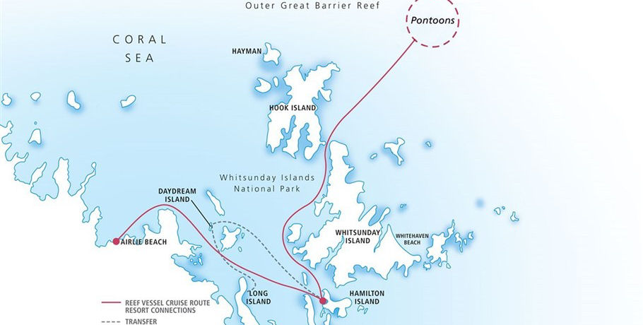 Map to the Great Barrier Reef