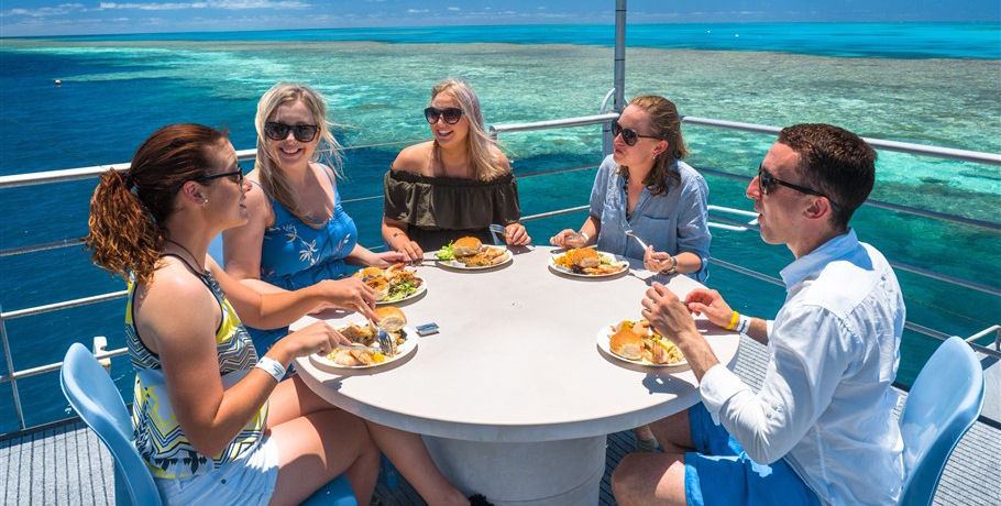 Enjoying Lunch at the Great Barrier Reef