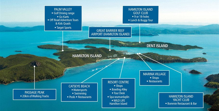 Map to Hamilton Island Activities