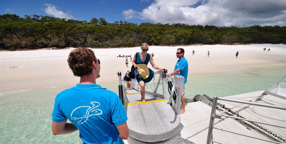 Ramp to access boat from Whitehaven Beach