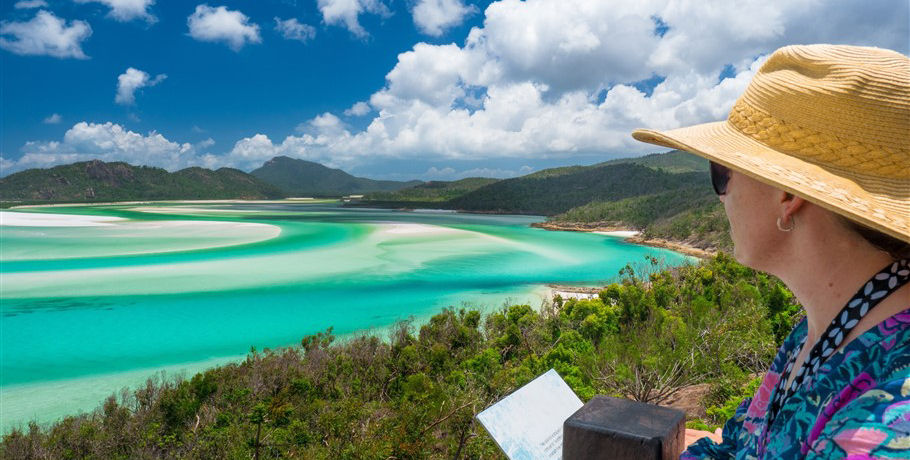View of the Swirling Sands at Hill Inlet Whitehaven Beach
