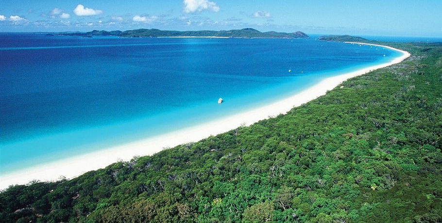 View of Whitsunday Island from Above